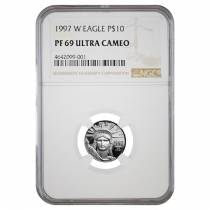 1997 W 1/10 oz $10 Platinum American Eagle Proof Coin NGC PF 69 UCAM