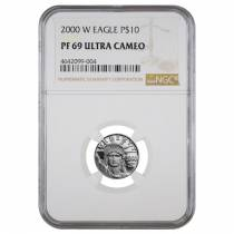 2000 W 1/10 oz $10 Platinum American Eagle Proof Coin NGC PF 69 UCAM