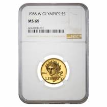 1988 W Gold $5 Commemorative Olympics NGC MS 69