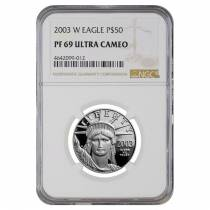 2003 W 1/2 oz $50 Platinum American Eagle Proof Coin NGC PF 69 UCAM
