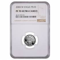 2004 W 1/10 oz $10 Platinum American Eagle Proof Coin NGC PF 70 UCAM