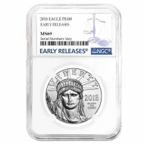 2018 1 oz Platinum American Eagle NGC MS 69 Early Releases