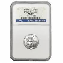 2007 1/4 oz $25 Platinum American Eagle NGC MS 69 Early Releases