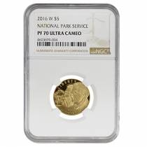 2016 W Gold $5 Proof Commemorative National Park Service NGC PF 70 UCAM