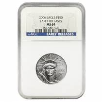 2006 1/2 oz $50 Platinum American Eagle NGC MS 69 Early Releases