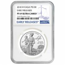 2018-W 1 oz Proof Platinum American Eagle - Life - NGC PF 69 ER