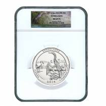 2014 5 oz Silver America the Beautiful ATB Everglades National Park NGC MS 69 PL