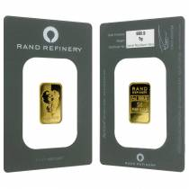 5 gram Rand Refinery Mirage Gold Bar .9999 Fine (In Assay)
