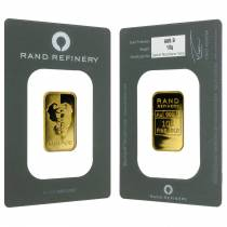 10 gram Rand Refinery Mirage Gold Bar .9999 Fine (In Assay)