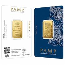 1/2 oz Gold Bar PAMP Suisse Lady Fortuna Veriscan .9999 Fine (In Assay)