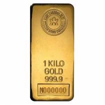 1 kilo Royal Canadian Mint RCM Gold Bar .9999 Fine