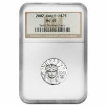 2002 1/4 oz $25 Platinum American Eagle NGC MS 69