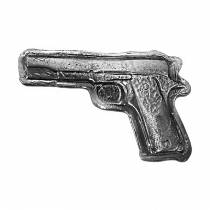 5 oz Bullion Exchanges Silver Hand Poured Gun .999 Fine (Antiqued)