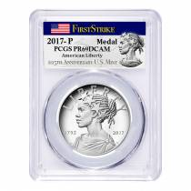 2017 P 1 oz American Liberty High Relief Proof Silver Medal PCGS PF 69 First Strike (225th Ann. Label)