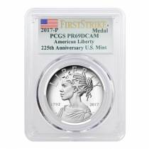 2017 P 1 oz American Liberty High Relief Proof Silver Medal PCGS PF 69 First Strike