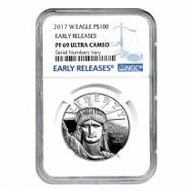 2017-W 1 oz Platinum American Eagle Proof Coin NGC PF 69 UCAM Early Releases - 20th Anniversary