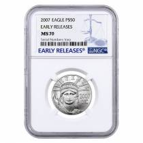 2007 1/2 oz $50 Platinum American Eagle NGC MS 70 Early Releases