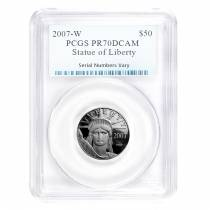 2007 W 1/2 oz $50 Platinum Proof American Eagle PCGS PF 70 DCAM