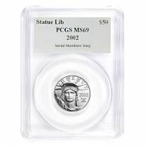 2002 1/2 oz $50 Platinum American Eagle PCGS MS 69