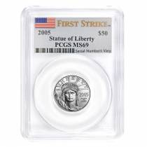 2005 1/2 oz $50 Platinum American Eagle PCGS MS 69 First Strike