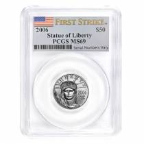 2006 1/2 oz $50 Platinum American Eagle PCGS MS 69 First Strike