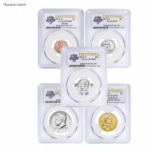 2017-S US Mint 225th Anniversary Enhanced Uncirculated 10-Coin Set PCGS SP 70 First Strike (Mixed Labels)