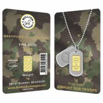 1 Gram Gold Bullion Exchanges Army Camouflage Istanbul Gold Refinery (IGR) .9999 Bar (In Assay)