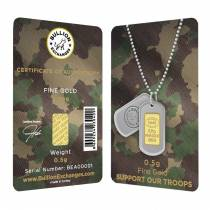 1/2 Gram Gold Bullion Exchanges Army Camouflage Istanbul Gold Refinery (IGR) .9999 Bar (In Assay)