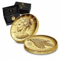 2017 W 1 oz $100 American Liberty High Relief Proof Gold Coin (w/Box and COA) - US Mint 225th Anniversary