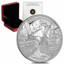 2013 1 oz Platinum Canadian Shannon and Chesapeake $300 Proof Coin (w/Box & COA)
