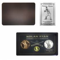 1993 Nolan Ryan Strike-Out Edition Proof Gold, Silver & Bronze 3-medal Set (w/Box & COA)