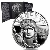 2014-W 1 oz Platinum American Eagle Proof Coin (w/Box & COA)