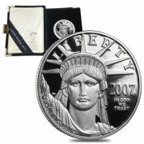 2007 W 1 oz Platinum American Eagle Proof Coin (w/Box & COA)