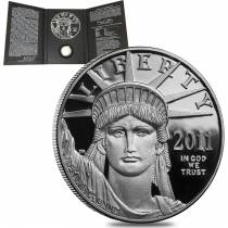 2011 W 1 oz Platinum American Eagle Proof Coin (w/Box & COA)