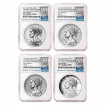2017 American Liberty 225th Anniversary Silver 4-Medal Set NGC MS/SP/PF 69 ER