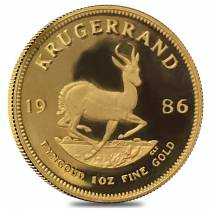 1986 South Africa 1 oz Proof Gold Krugerrand