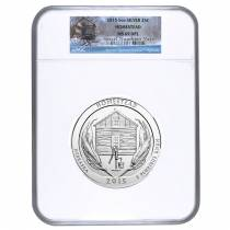 2015 5 oz America the Beautiful ATB Silver Homestead National Park Coin NGC MS 69 DPL
