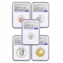 2017-S US Mint 225th Anniversary Enhanced Uncirculated 10-Coin Set NGC SP 70 Early Releases