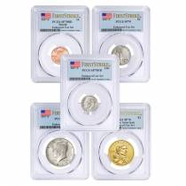 2017-S US Mint 225th Anniversary Enhanced Uncirculated 10-Coin Set PCGS SP 70 First Strike