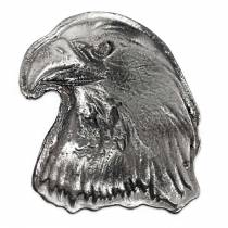 10 oz Eagle Head Silver Hand Poured Bullion Exchanges Bar .999 Fine (Antiqued)
