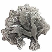 10 oz Dragon Silver Hand Poured Bullion Exchanges Bar .999 Fine (Antiqued)