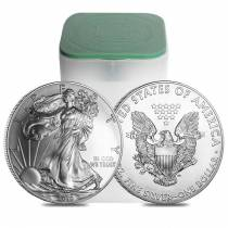 Roll of 20 - 2010 1 oz Silver Eagle Brilliant Uncirculated (Lot,Tube of 20)