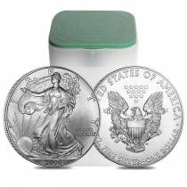 Roll of 20 - 2000 1 oz Silver American Eagle $1 Coin BU (Lot, Tube of 20)
