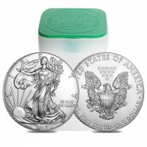 Roll of 20 - 2017 1 oz Silver American Eagle $1 Coin BU (Lot, Tube of 20)