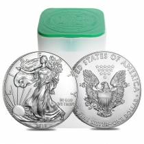 Roll of 20 - 2018 1 oz Silver American Eagle $1 Coin BU (Lot, Tube of 20)
