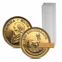 Roll of 50 - 1/10 oz South African Krugerrand Gold Coin (Random Year)