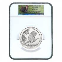 2015 5 oz America the Beautiful ATB Silver Kisatchie National Forest Coin NGC MS 69 DPL