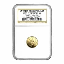 1995-W Gold $5 Commemorative Olympic Torch Runner NGC PF 69