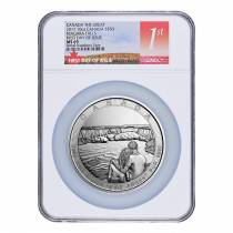 2017 10 oz Silver Canada the Great CTG Niagara Falls NGC MS 69 First Day of Issue