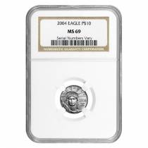 2004 1/10 oz Platinum American Eagle $10 NGC MS 69